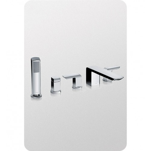 TOTO TB960S Soirée® Deck-Mount Bath Faucet with Handshower and Diverter
