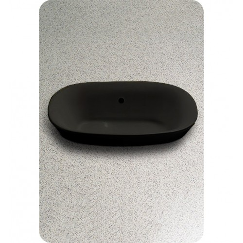 TOTO LT480 Maris™ Semi-Recessed Vessel Lavatory in Ebony Black