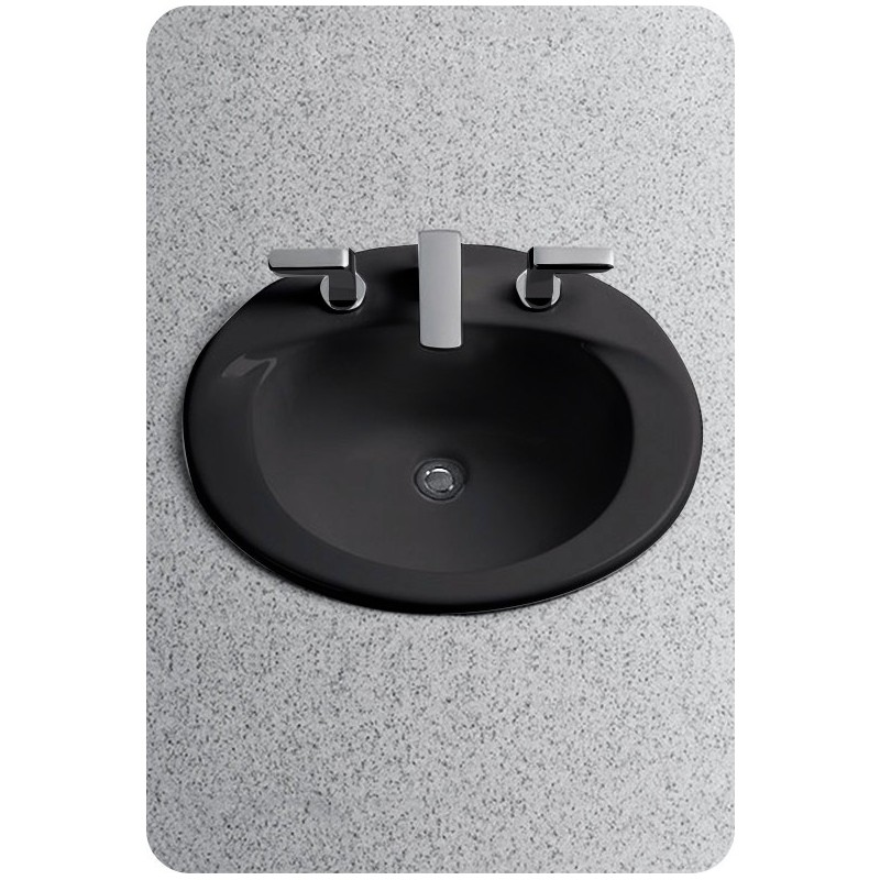 TOTO LT511 Supreme® Self-Rimming ADA Lavatory in Ebony Black