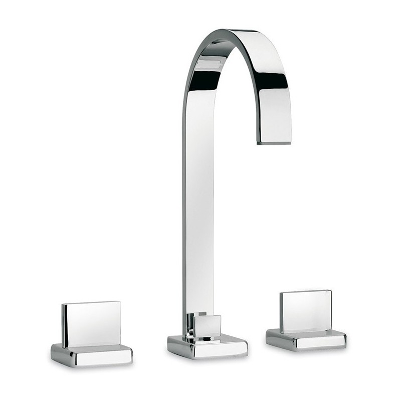 LaToscana 86CR214 Novello Widespread Lavatory Faucet with Handles in Chrome