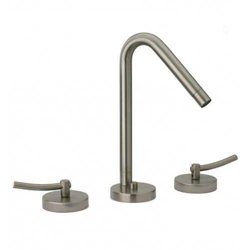 LaToscana 81PW214 Morrelino Widespread Lavatory Faucet With Lever Handles in Brushed Nickel