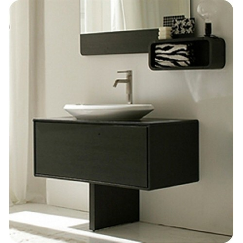 LaToscana R45L100U Ola Collection Grey Oak Modern Bathroom Vanity