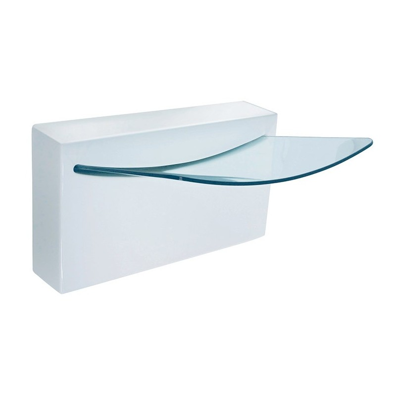 LaToscana L990 Crystall Wall Mount Sink with Integrated Glass Basin