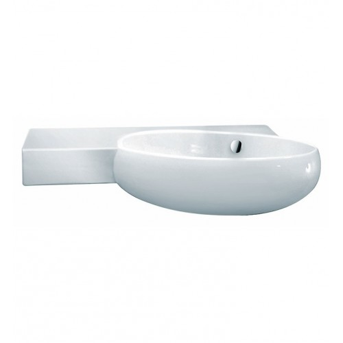 LaToscana TA30SXR Tao Wall Mount Sink with Integrated Basin on Right