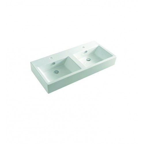 LaToscana L285 Fuori Box Above Counter Sink with Two Integrated Basins