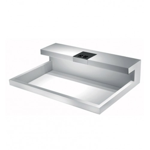 LaToscana I-CET Hybrid Above Counter or Self Rimming Sink with Faucet in Polished Chrome