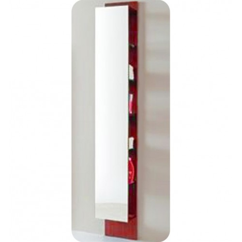 LaToscana 7004-139 Asia 85 Collection Red Tall Wall Mount Linen Tower