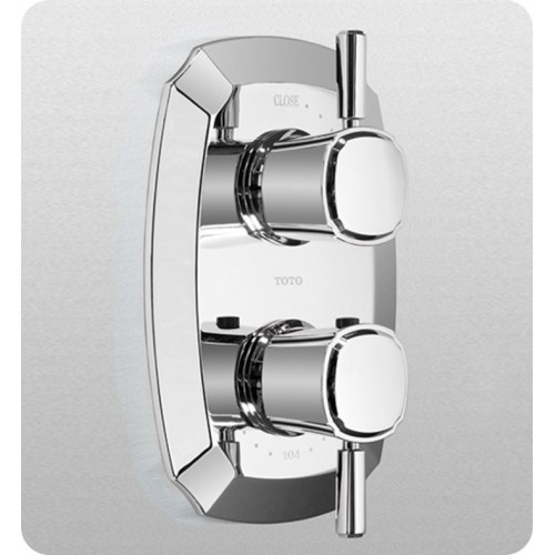 TOTO TS970C1 Guinevere® Thermostatic Mixing Valve with One-Way Volume Control and Lever Handles