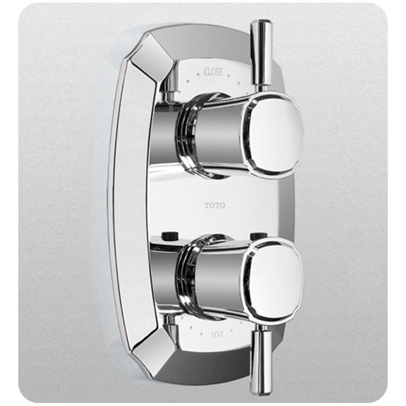 TOTO TS970D1 Guinevere® Thermostatic Mixing Valve with Two-Way Volume Control Trim and Lever Handles