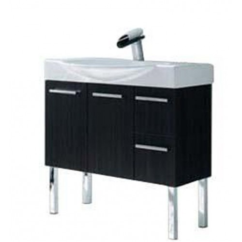 LaToscana 7059-162 Cortina Collection Black Modern Bathroom Vanity