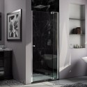DreamLine Allure 33 to 34 in. Frameless Pivot Shower Door, Clear Glass Door in Chrome Finish