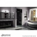 DreamLine Allure 35 to 36 in. Frameless Pivot Shower Door, Clear Glass Door in Chrome Finish