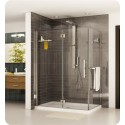 Fleurco PGLR Platinum In-Line Door and Fixed Panel with Return Panel and Glass to Glass Hinges