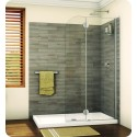 Fleurco VXSS24 Evolution Monaco Round Top Shower Shield with Fixed Panel and Support Bar System
