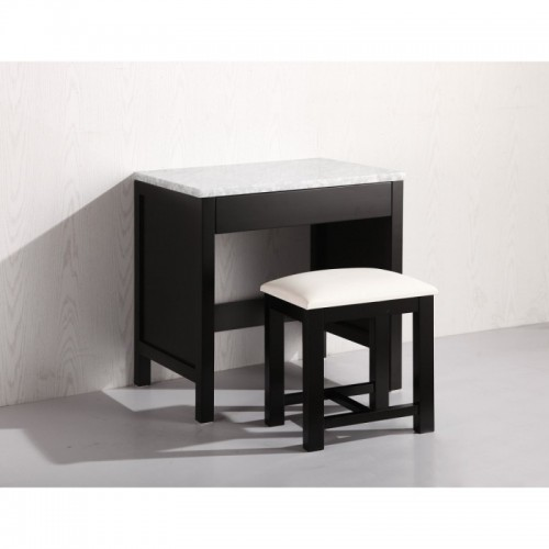 Make-up table and Stool in Espresso Finish